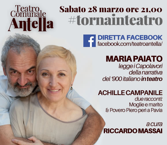 Diretta Facebook – Maria Paiato